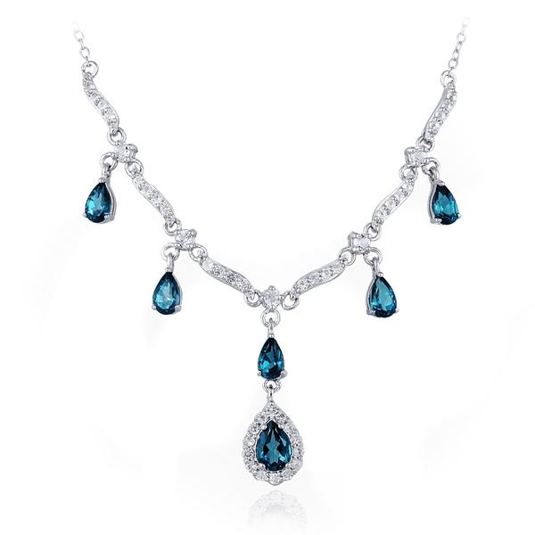 bijoux en topaze bleue